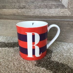 Kate Spade Lenox Striped Monogram Mug
